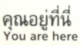YOU ARE HERE                                              (image taken from a Bangkok metro map)