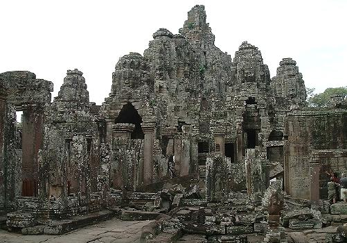 Looking at Angkor Thom, from the eastern entrance