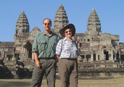 Karen and Marc, at Angkor Wat