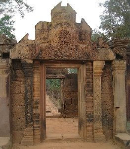 Doorway at entrance to ruins at Banteay Srei