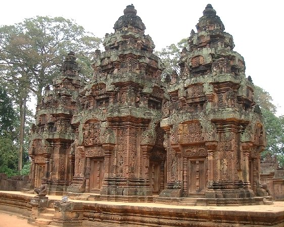 Three mini-towers at Banteay Srei